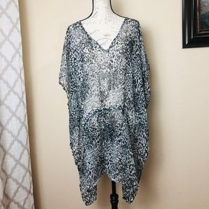 Animal print swimsuit Coverup dress L/ XL